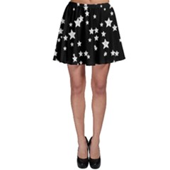 Black And White Starry Pattern Skater Skirt