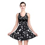 Black and White Starry Pattern Reversible Skater Dress