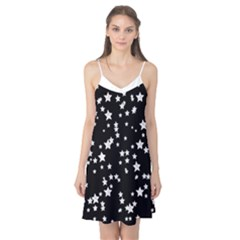 Black And White Starry Pattern Camis Nightgown