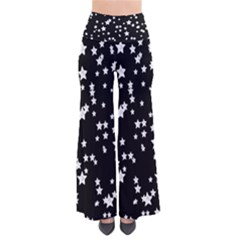 Black And White Starry Pattern Women s Chic Palazzo Pants