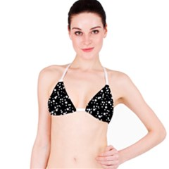 Black And White Starry Pattern Bikini Top