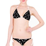 Black and White Starry Pattern Bikini