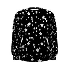 Black And White Starry Pattern Women s Sweatshirt
