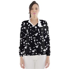 Black And White Starry Pattern Wind Breaker (women)