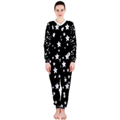 Black And White Starry Pattern Onepiece Jumpsuit (ladies)