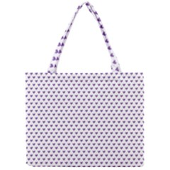 Purple Small Hearts Pattern Mini Tote Bag by CircusValleyMall