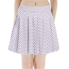 Purple Small Hearts Pattern Pleated Mini Skirt by CircusValleyMall