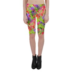 Colorful Mosaic Cropped Leggings