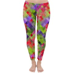 Colorful Mosaic Winter Leggings