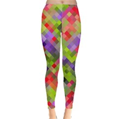Colorful Mosaic Leggings  by DanaeStudio