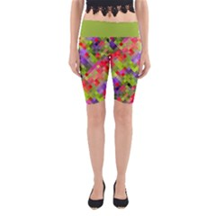Colorful Mosaic Yoga Cropped Leggings