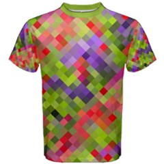 Colorful Mosaic Men s Cotton Tee