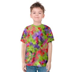 Colorful Mosaic Kid s Cotton Tee by DanaeStudio