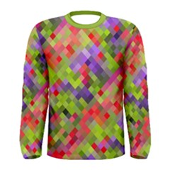 Colorful Mosaic Men s Long Sleeve Tee by DanaeStudio
