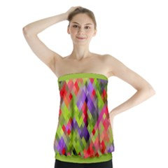Colorful Mosaic Strapless Top by DanaeStudio