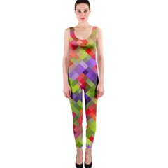 Colorful Mosaic Onepiece Catsuit by DanaeStudio