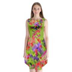 Colorful Mosaic Sleeveless Chiffon Dress   by DanaeStudio