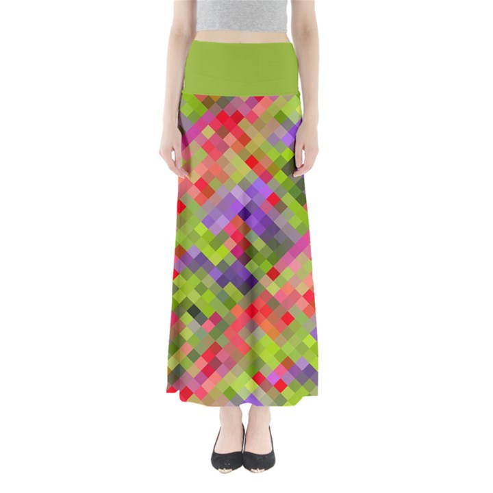 Colorful Mosaic Women s Maxi Skirt