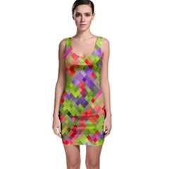 Colorful Mosaic Bodycon Dress