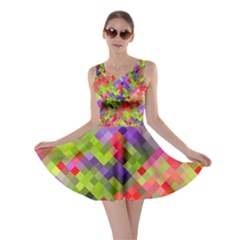 Colorful Mosaic Skater Dress