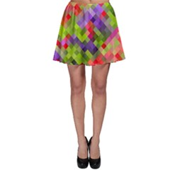 Colorful Mosaic Skater Skirt by DanaeStudio
