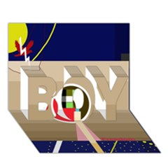 Decorative Abstraction Boy 3d Greeting Card (7x5) by Valentinaart