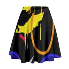 Crazy Dream High Waist Skirt by Valentinaart