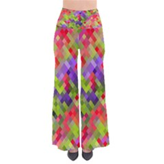 Colorful Mosaic Women s Chic Palazzo Pants