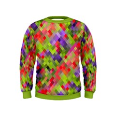 Colorful Mosaic Kids  Sweatshirt by DanaeStudio