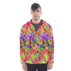 Colorful Mosaic Hooded Wind Breaker (men) by DanaeStudio