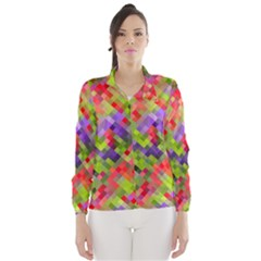 Colorful Mosaic Wind Breaker (women)