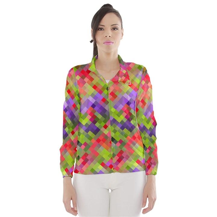 Colorful Mosaic Wind Breaker (Women)