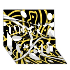 Yellow Movement Miss You 3d Greeting Card (7x5)