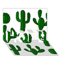 Cactuses Pattern Hope 3d Greeting Card (7x5)