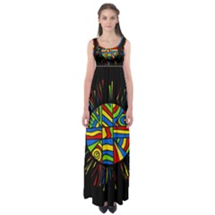 Colorful Bang Empire Waist Maxi Dress by Valentinaart