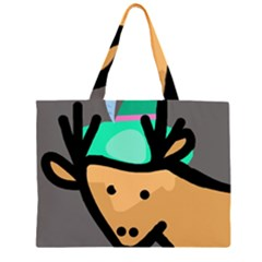 Deer Zipper Large Tote Bag by Valentinaart