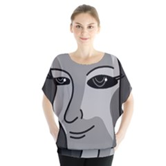 Lady - gray Blouse by Valentinaart