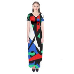 Find Me Short Sleeve Maxi Dress by Valentinaart