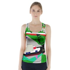 Trip Racer Back Sports Top by Valentinaart