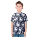 Geometric Deer Retro Pattern Kid s Cotton Tee