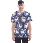 Geometric Deer Retro Pattern Men s Sport Mesh Tee