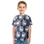 Geometric Deer Retro Pattern Kid s Sport Mesh Tee