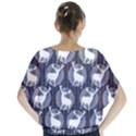 Geometric Deer Retro Pattern Batwing Chiffon Blouse View2