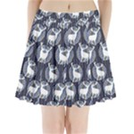 Geometric Deer Retro Pattern Pleated Mini Skirt
