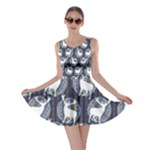 Geometric Deer Retro Pattern Skater Dress