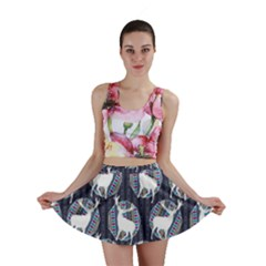 Geometric Deer Retro Pattern Mini Skirt by DanaeStudio