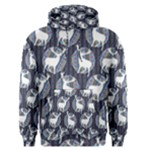 Geometric Deer Retro Pattern Men s Pullover Hoodie