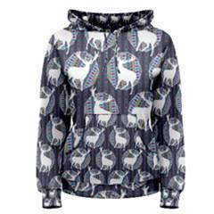 Geometric Deer Retro Pattern Women s Pullover Hoodie
