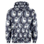 Geometric Deer Retro Pattern Men s Zipper Hoodie