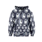 Geometric Deer Retro Pattern Kids  Zipper Hoodie